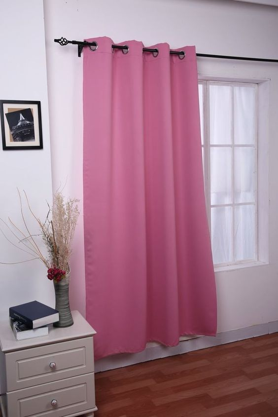 52 Inch X 84 Grommet Thermal Insulated Blackout Panel Curtain Pink ...