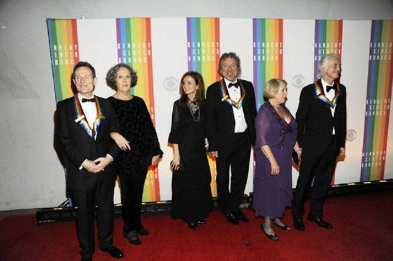 JPJ and his wife Maureen (Mo), Robert Plant and Patty Griffin, Jimmy Page and Joan Hudson who was Led Zeppelin's accountant and administrative assistant from day one and continues to be Jimmy's accountant to this day. Beautiful gesture for JP to bring her to the Kennedy Center Honors in D.C.