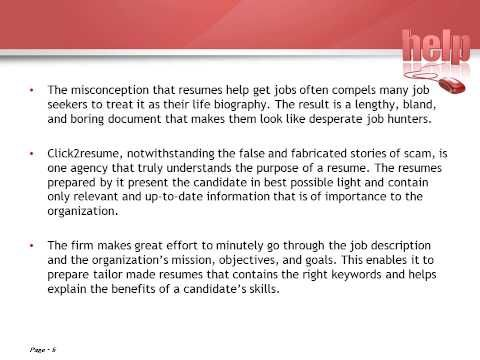 The first thing that recruiters go through in a resume is the - purpose of a resume