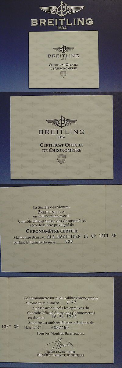 Manuals And Guides 93720 Breitling Pilot Divers Watch Instruction