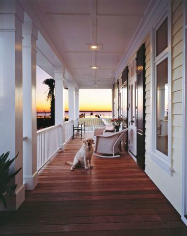 A porch like that, with a view like that.