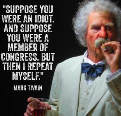 Mark Twain's sass and loathing of congress is a beautiful thing - Imgur