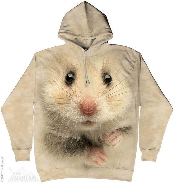 """Hamster Face"" hooded sweatshirt"