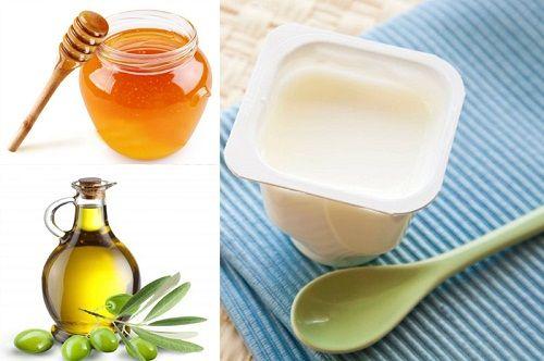 Mật ong, sữa chua và dầu oliu có công dụng ủ tóc mềm mại và chắc khỏe, phục hồi tóc hư tổn cũng như kích thích mọc tóc hiệu quả.
