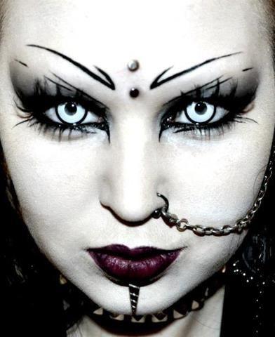 Gothic girl shaved