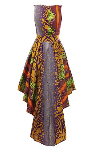 Louisa African print maxi dress - OHEMA OHENE AFRICAN INSPIRED FASHION - 2: