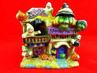 Haunted House Spooky Witches Goblin Figurine collectible decoration Hotel Mini  BOO AUCTION! FREE SHIPPING!  BlingBlinky.com