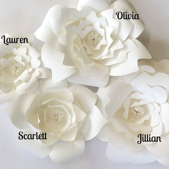DIY Paper Flower Templates -  Create your own paper flower walls for weddings, events or home decor.
