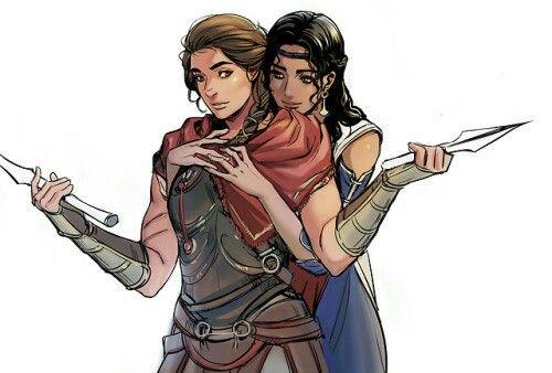 Kassandra And Aspasia Assassins Creed Artwork Assassin S Creed Assassins Creed Art