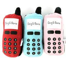 heißen neuen Spaß hund katze kauenspielwaren Ausbildung telefon form spielen quietschende plüsch sound spielzeug(China (Mainland))