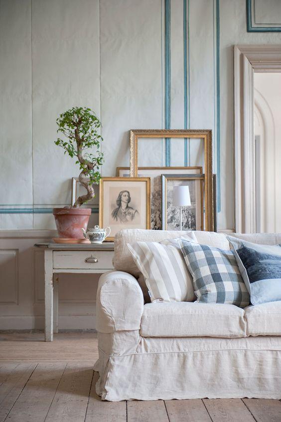 palette | IKEA Ektorp sofa with a Bemz Loose Fit Unbleached cover | www.bemz.com