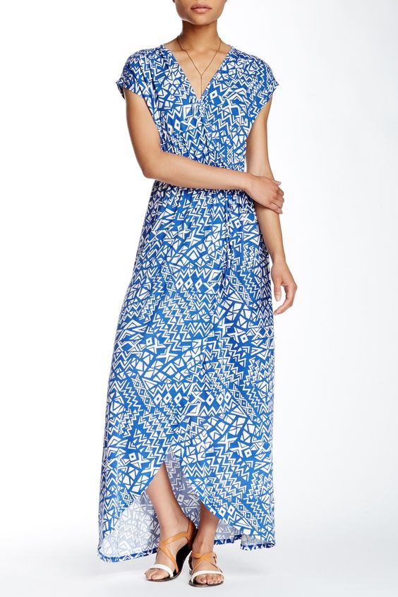 Printed Maxi Dress by Fraiche By J on @HauteLook