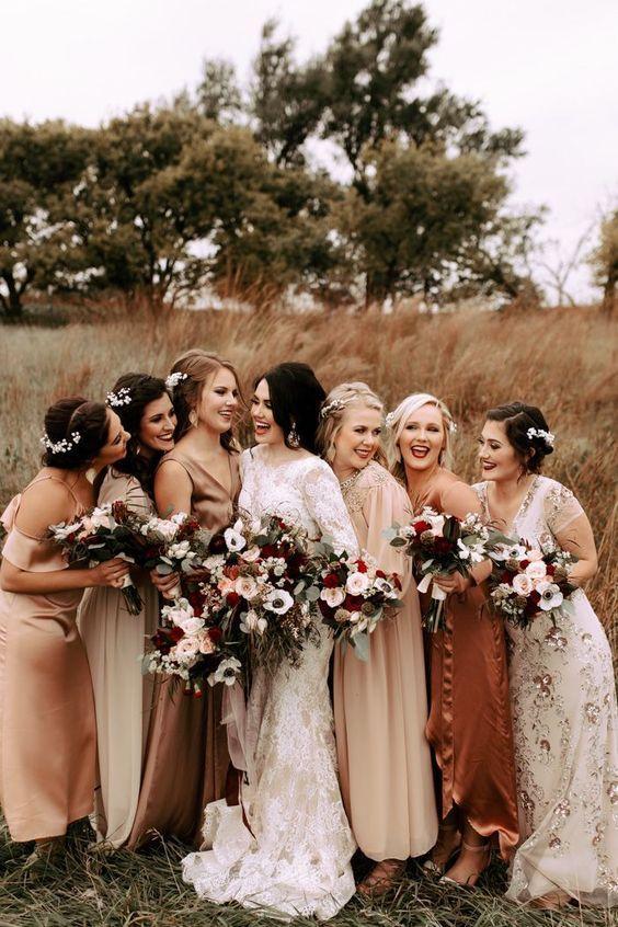 Gorgeous Boho Bridesmaid Dresses You May Like In 2020 Bridesmaid Dresses Boho Fall Bridesmaid Dresses Wedding Bridesmaid Dresses