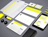 I have a strange attraction to highlighter yellow combined with black/grey and this identity uses the colors really well, in a handsome and non-overwhelming fashion.