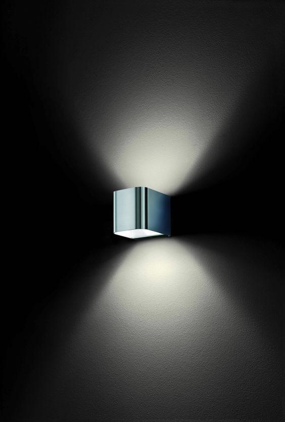 intro #1 . outside luminaire . Außenleuchte . wall luminaire . Wandleuchte . stainless steel brushed . Edelstahl gebürstet . LED