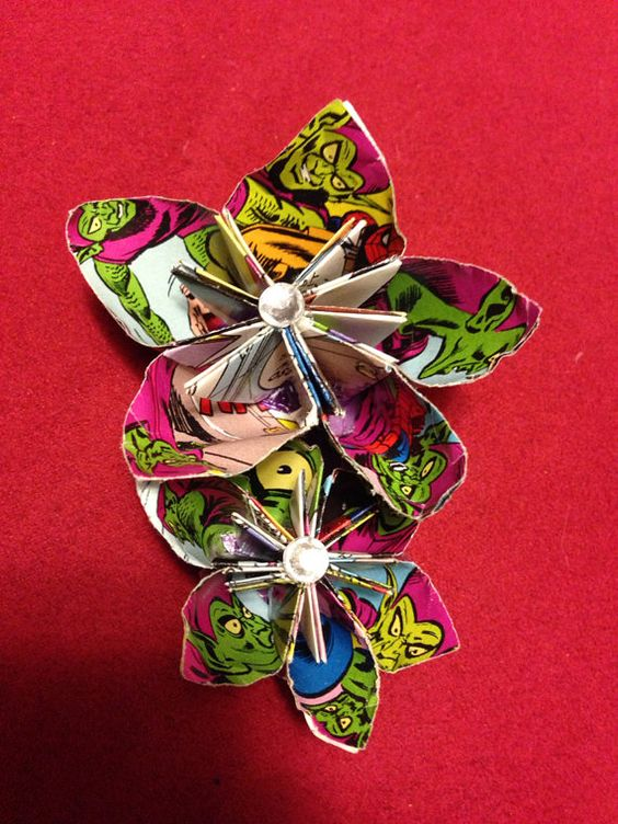 Comic Book Boutonnière on Etsy, check it out!