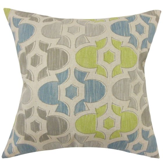 Bhayva Geometric Cotton Throw Pillow
