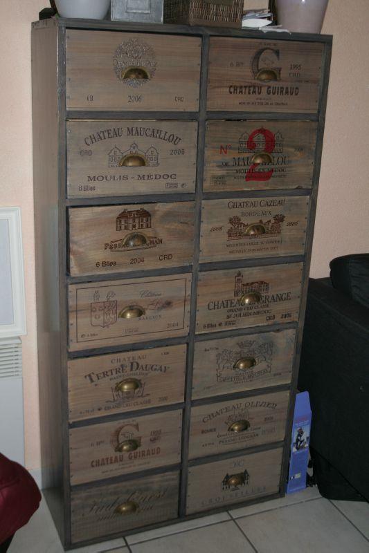 commode haute 14 tiroirs 270 meubles caisses de vin pinterest euro album et tvs. Black Bedroom Furniture Sets. Home Design Ideas