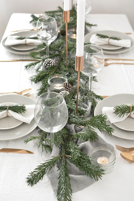 How To Create A Modern Christmas Tablescape Sovremennyj Rozhdestvenskij Dekor Rozhdestvenskaya Servirovka Stola Servirovka Stola
