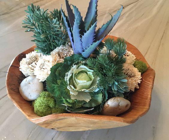 Summer Garden Succulent & Flower Arrangement