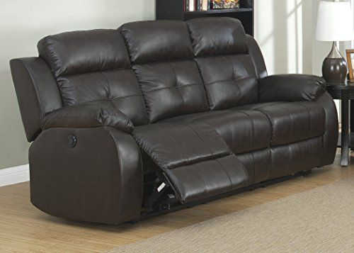 Christies Home Living Troy Prs Power Troy Transitional Sofa With 2 Recliners Espresso Power Reclining Sofa Reclining Sofa Sofa