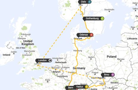 The European Interrail Route that doesn't cost a single Euro. Special blog post from Interrail Planner on planning a non Euro currency Interrailing Route - https://www.compareholidaymoney.com/blog/the-european-interrail-route-that-doesnt-cost-a-single-euro/ #InterrailingEurope #InterrailPlanner #Europe