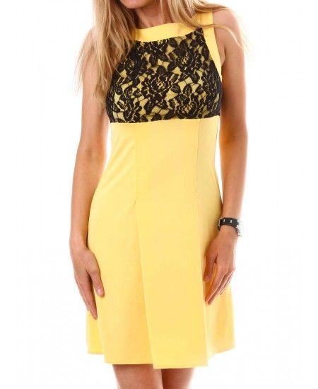 Жълта рокля на Different Ladies | http://shopzone.bg/womens/рокли/77067/Дамска-рокля-в-жълто-на-Different-Ladies