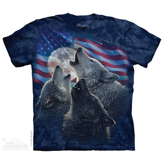 The Mountain - Wolf Trinity America T-Shirt, $20.00 (http://shop.themountain.me/wolf-trinity-america-t-shirt/)