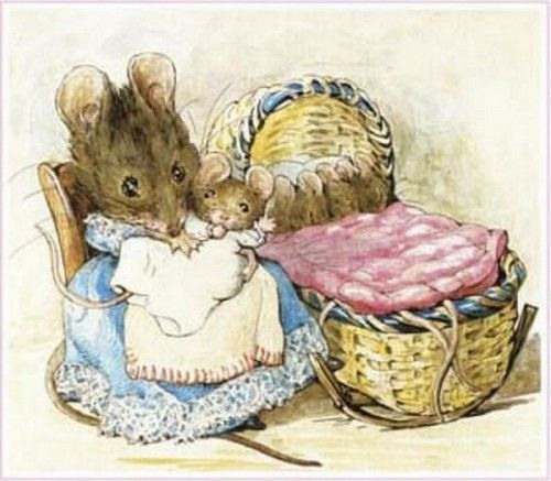 by Beatrix Potter..a favorite book to get at the library and add to the piles a little me checked out