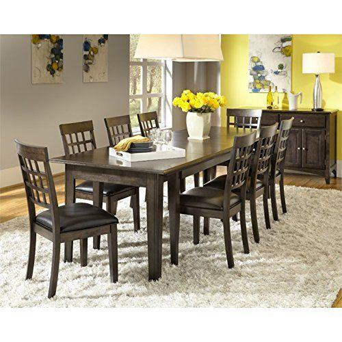 A America Bristol Point 10 Piece Dining Set In Warm Gray Dining Room Sets Dining Table With Leaf Solid Wood Dining Set 10 piece dining room sets