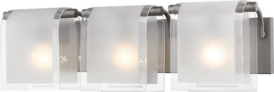 Z-Lite 169-3V-FB 3 Light Vanity Light Zephyr Collection Clear Beveled+Frosted Finish