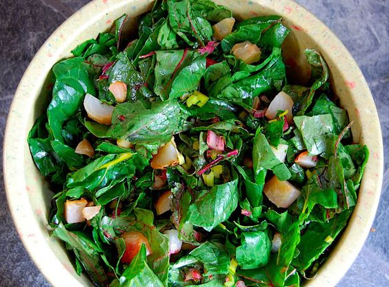 Savory Spicy Sweet: Chard Salad with Bacon, Beets, and ...