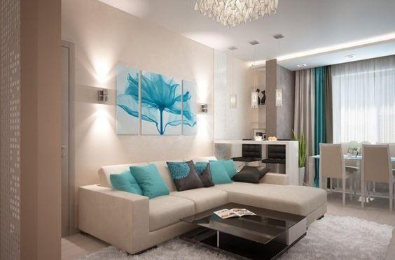 déco salon gris avec touche de bleu - Recherche Google | Salon ...