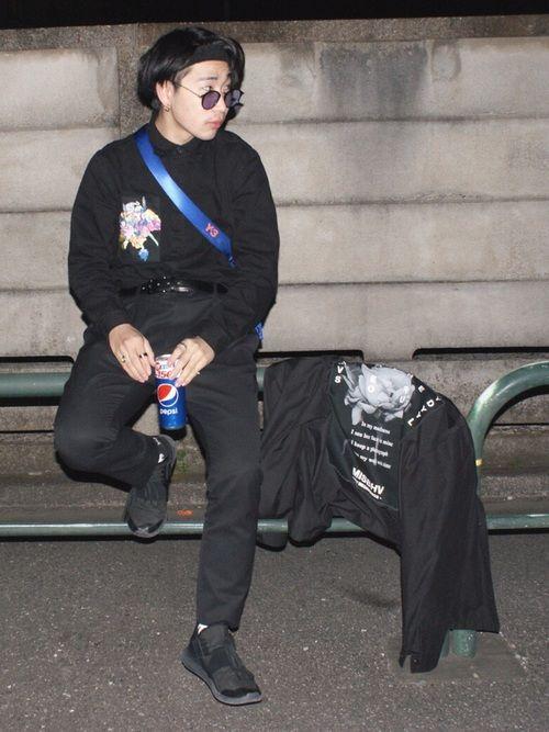 R03 Y 3のベルトを使ったコーディネート Wear ファッション