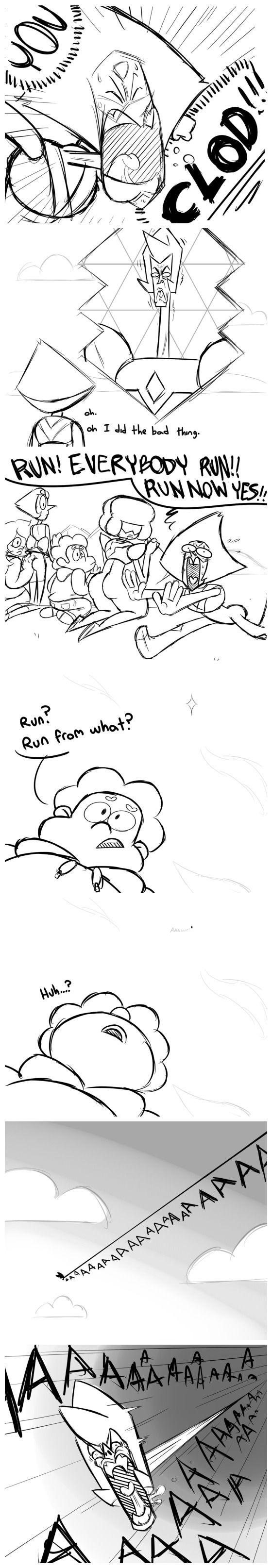 Peridot and Yellow Diamond - comic<< I CAN'T BREATHE HELP ME