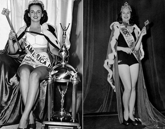 Even back in the 1940s, Miss America beauties weren't afraid to show a little skin. Along with their crowns, these winners also donned capes and were given wands and trophies. Barbara Jo Walker (l.) was crowned Miss America 1947 and France Burke was named Miss America 1940 (r.).