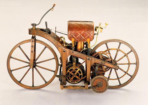 First motorcycle made by Gottlieb Daimler & Wilhelm Mar. . .
