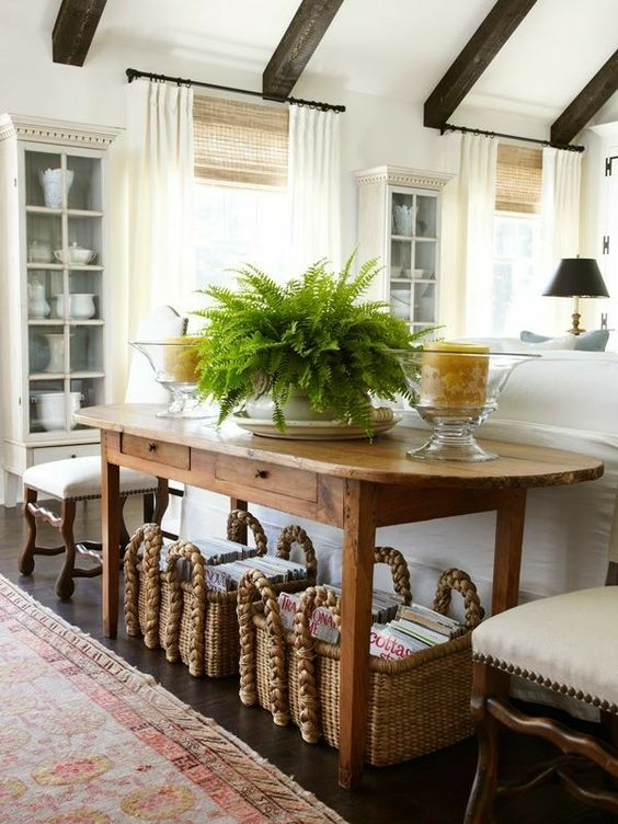 Love the rustic table.