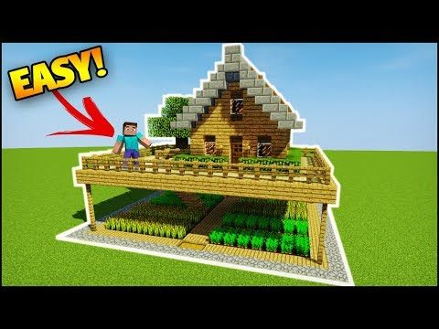 Minecraft How To Build A Small Survival Starter House Youtube Minecraft Houses Survival Minecraft House Tutorials Cool Minecraft Houses