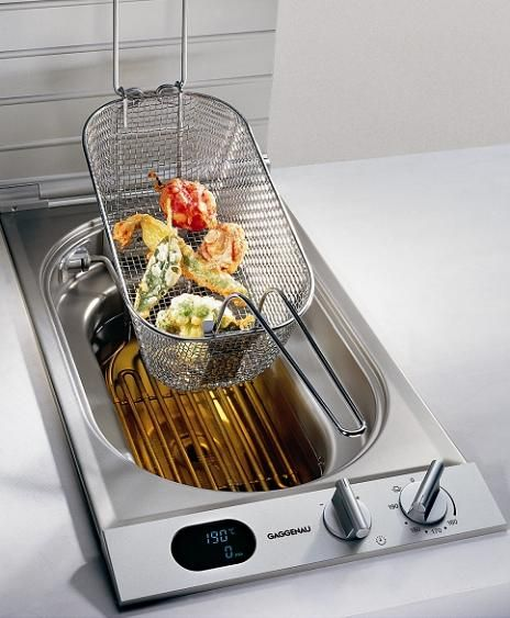 built in deep fryer... in kitchen?