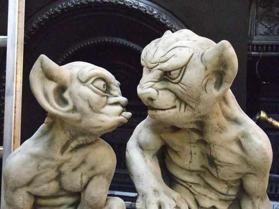 I said shut it!  Part of the Nightmares In The Sky: 77 Fantastically Fierce, Fanciful, or Freakish Gargoyles Collection || Image by Howard Dickins