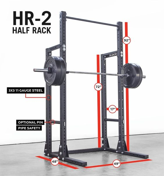 Rogue hr half rack  garage gym ideas