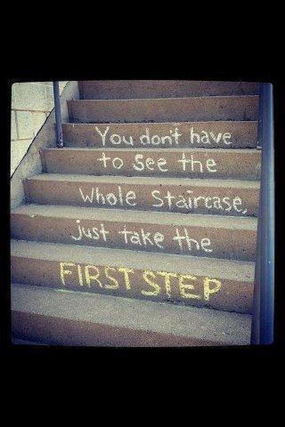 You don't have to see the whole staircase - just take the first step.
