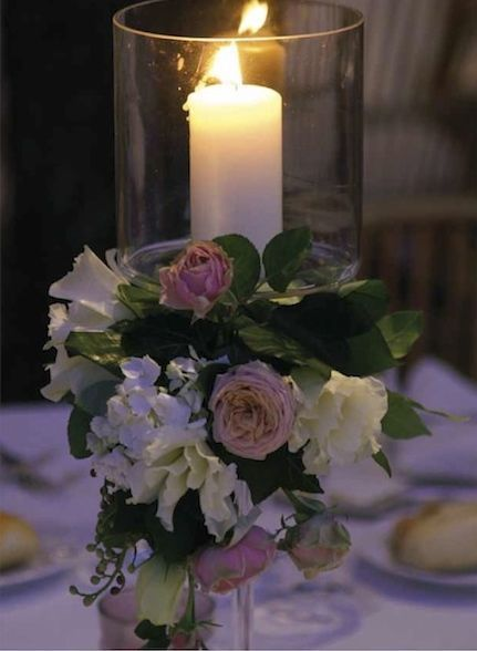 centro tavola rosa, verde e bianco. matrimonio in Umbria. Italy wedding