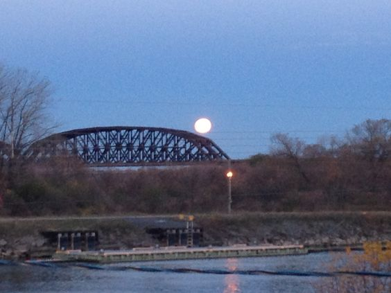 Train Bridge from Kahnawake on the South Shore of Monteal, Quebec