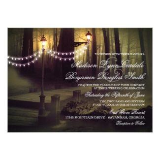 String of Lights Rustic Wedding Invitations by Zazzle Designer Rustic Country Wedding  #zazzle #enchangedforest #wedding #weddingstationery