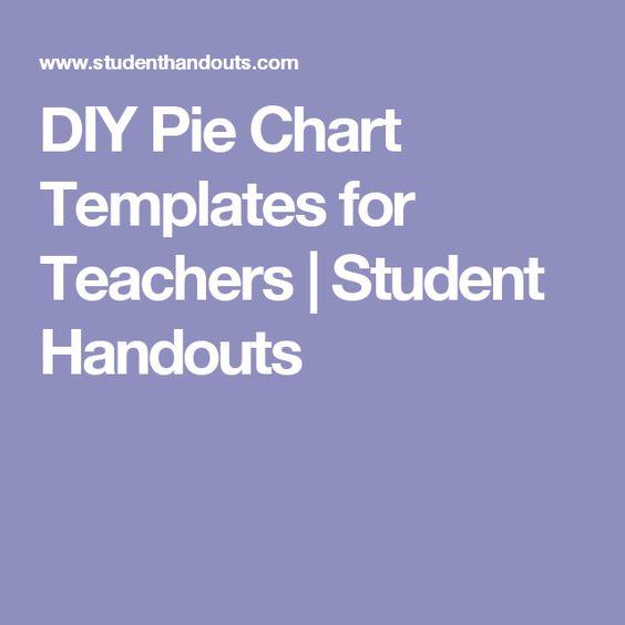 DIY Pie Chart Templates for Teachers Student Handouts Art - pie chart templates