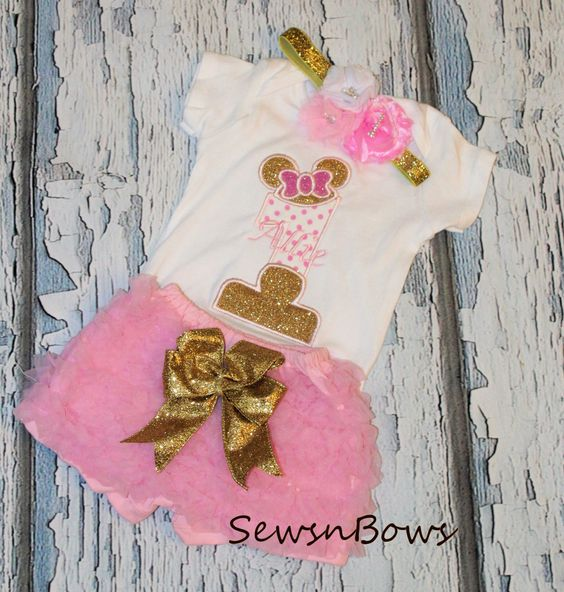 Decoracion Minie Dorada ~ SALE Minnie Mouse tutu Minnie Mouse Birthday Pink and Gold tutu 1st