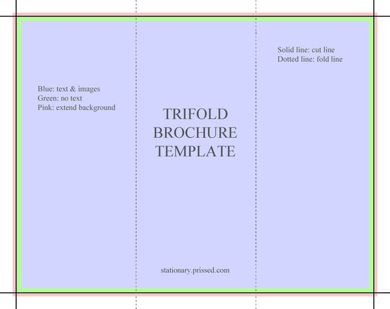 Brochure templates free brochure template flyer for Blank tri fold brochure template free download