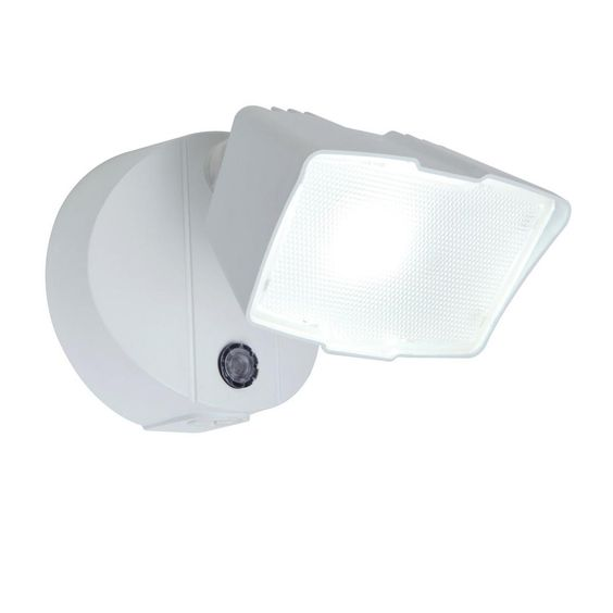 Lutec White Outdoor Integrated Led Dusk To Dawn Flood Light Dusk To Dawn Led Light Beam